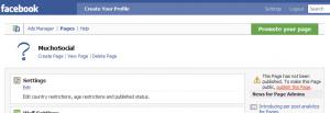 Publish your Fan Page